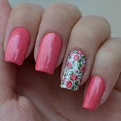 Unhas Decoradas com Florzinhas Rosa