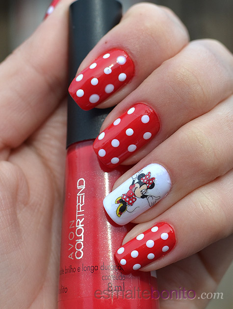Unhas Decoradas Minnie