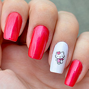 Unhas Decoradas Hello Kitty