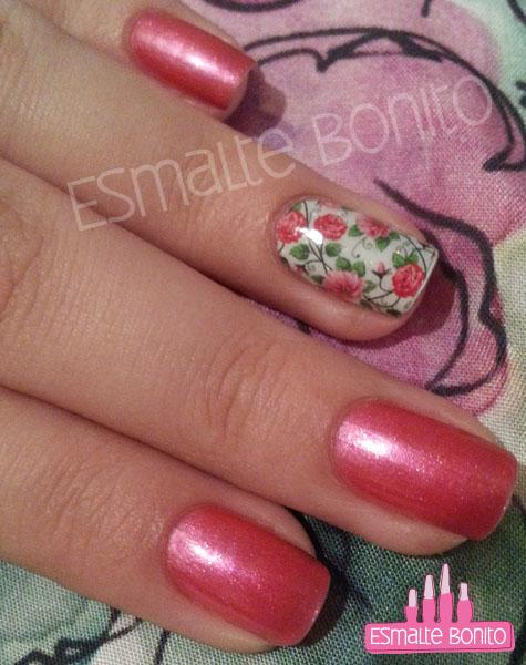Adesivo de Flores Cor-de-rosa