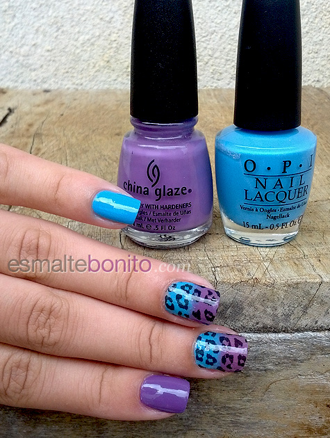 No Room for the Blues OPI e Spontaneous China Glaze