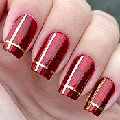 Esmalte Chancer Butter London e Fitinhas Douradas para Unhas