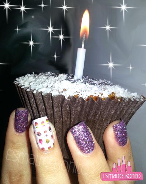 Adesivo de Cupcakes + Chuva de Rosas, Passe Nati