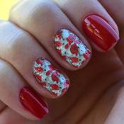 Adesivos para Unhas Flores Vermelhas