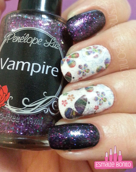 Adesivo de Borboleta com Flores + Vampire, Penélope Luz