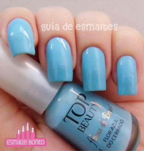 Esmalte Flor Azul do Cerrado Flores do Brasil Top Beauty