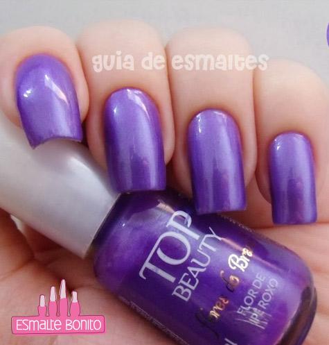 Esmalte Flor de Ipê Roxo Flores do Brasil Top Beauty