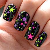 Unhas Autocolantes imPRESS Estrelas Coloridas