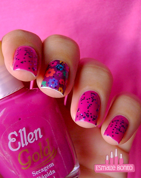 Esmalte Só Love Ellen Gold + London Girl Top Beauty