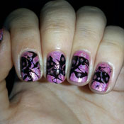 Splatter Nail Holográfica