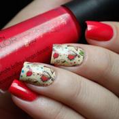 Adesivo de Unha Florzinhas e Passarinho
