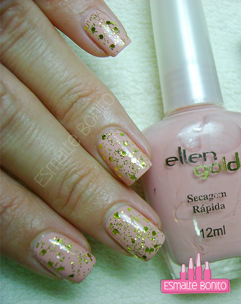 Esmalte Suas Mãos Ellen Gold + Gacrux Nail Plus
