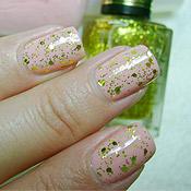 Esmalte Suas Mãos Ellen Gold + Glitter Gacrux Nail Plus