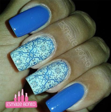 Adesivo de Unha Azulejo Português