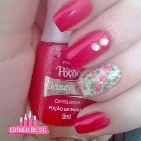 Adesivo de Unha Florzinhas Rosas