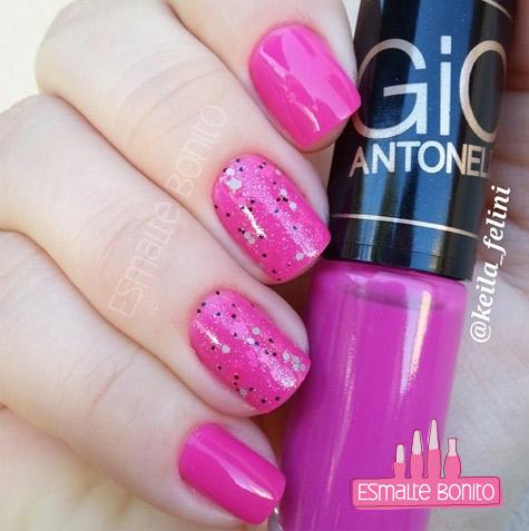 Esmalte Prazer Gio Antonelli + Glitter Girl Power Penélope Luz