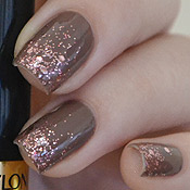 Over The Taupe OPI + Sparkling Revlon