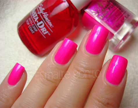 Shock Me Nail Plus com Top Coat