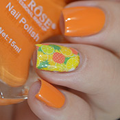 Esmalte 008 Miss Rôse + Adesivo de Unha Frutas