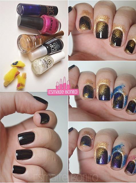 Passo a Passo Galaxy Nails
