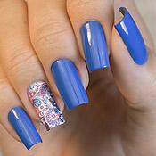 Blue Lagoon Nail Plus + Adesivo de Unha Paisley