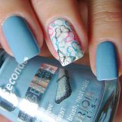 Blue Water Bourjois + Adesivo de Borboletas