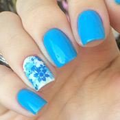 Esmalte Azul Celeste L'apogée + Adesivo de Unha Floral
