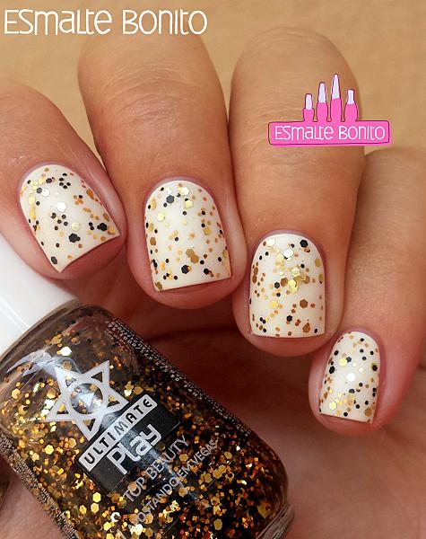 Esmalte Branco Real + Apostando em Vegas Top Beauty