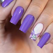 Esmalte Purple Foup + Adesivo + Carimbo