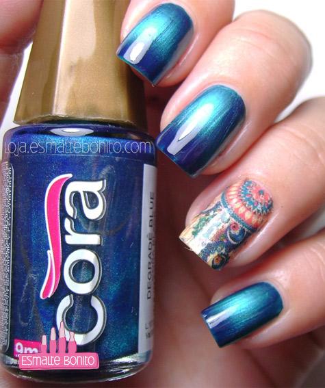 Esmalte Degradê Azul Cora