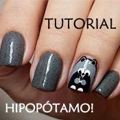 Esmalte Frozen Penélope Luz + Passo a Passo Nail Art de Hipopótamo