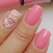 Esmalte Beijoca Vult + Adesivo de Unha Floral