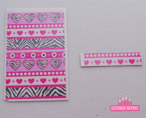 Passo 3 Cutting Sticker Manicure