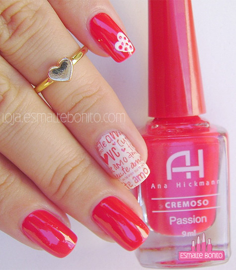 Unhas Decoradas Valentine's Day