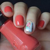 Esmalte Lichia Vult + Adesivo de Unha Floral