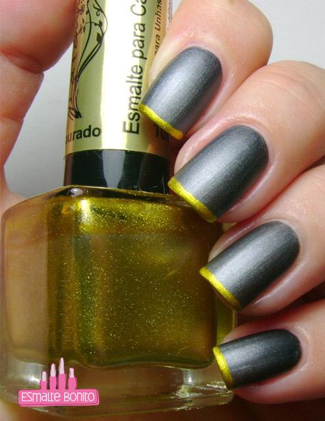 Esmalte Dourado para Carimbo La Femme