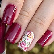 Esmalte Glam Anita + Adesivo Floral