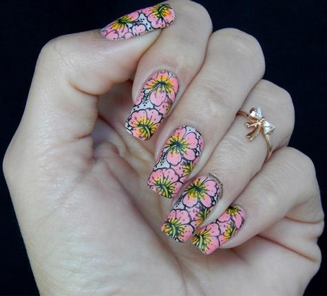 Carimbada Floral Preenchida
