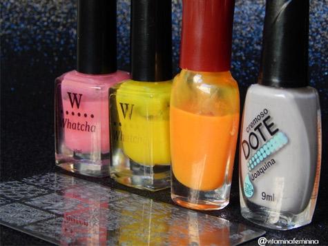 Produtos Usados para a Nail Art