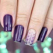 Púrpura Anita + Adesivo de Unha Japanese Wave