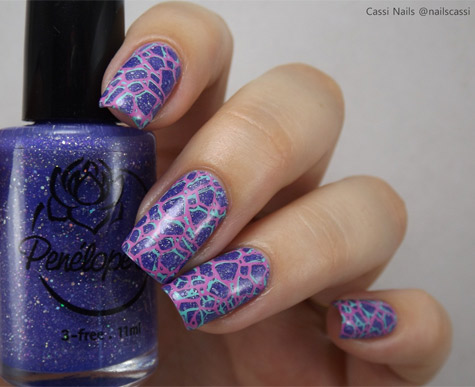 Unhas Carimbadas Placa 047 Sugar Bubbles