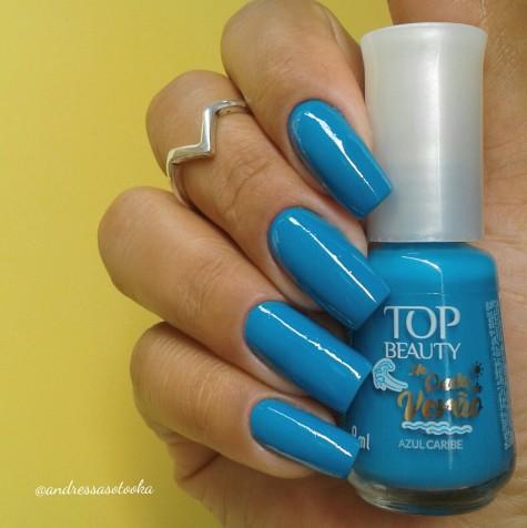 Esmalte Azul Caribe Top Beauty