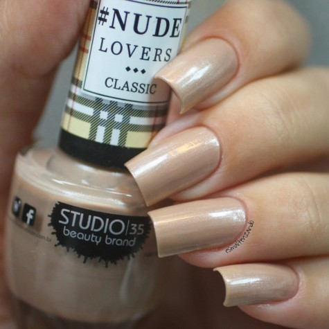 #NudeQueBrilha Esmalte Studio 35